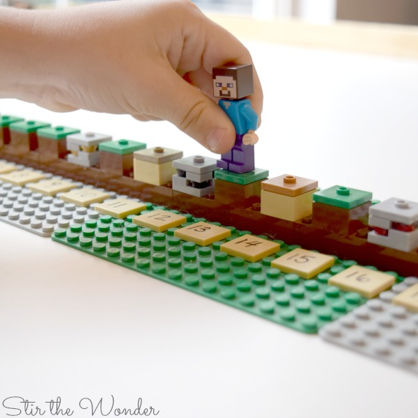 LEGO Minecraft Number Line