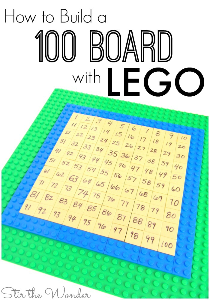 It's super easy to build a 100 board using LEGO bricks! And it can be used for all kinds of number learning!