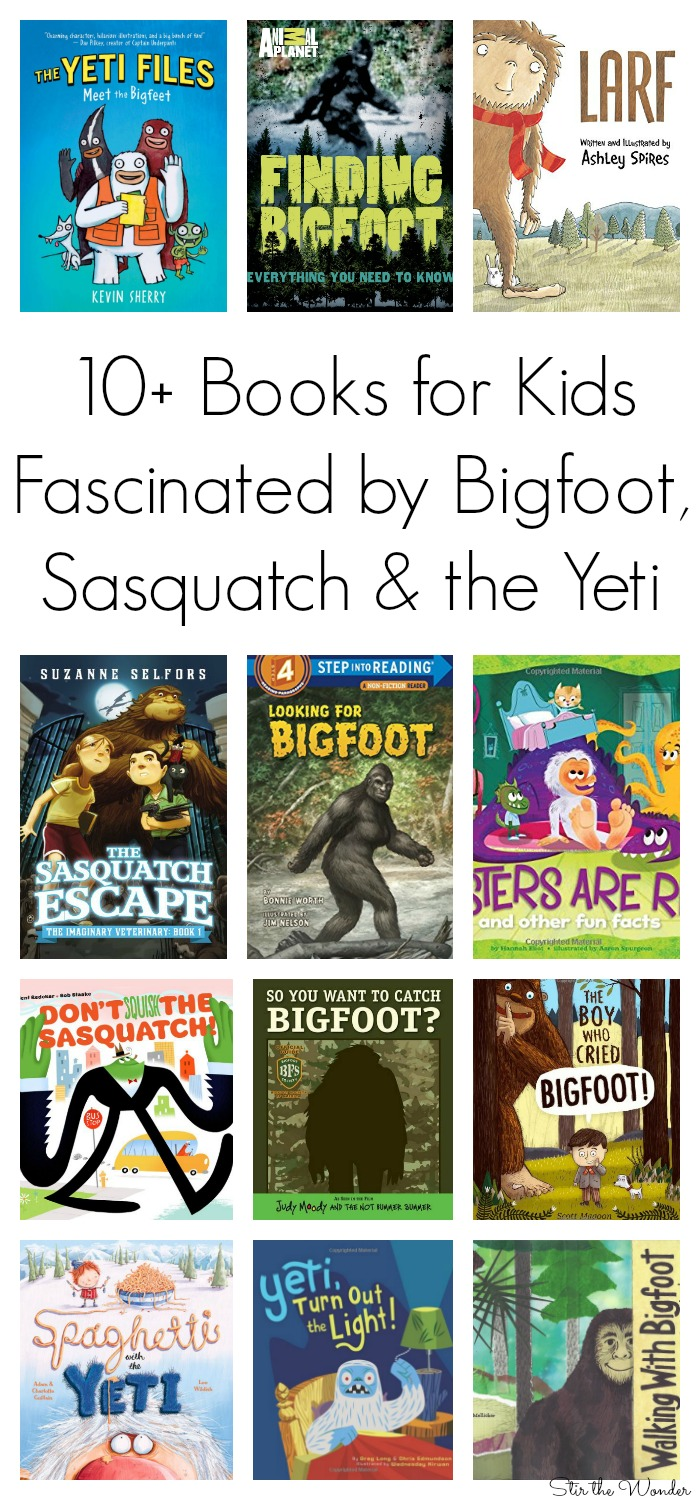 Books for Kids Fascinated by Bigfoot, Sasquatch & the Yeti