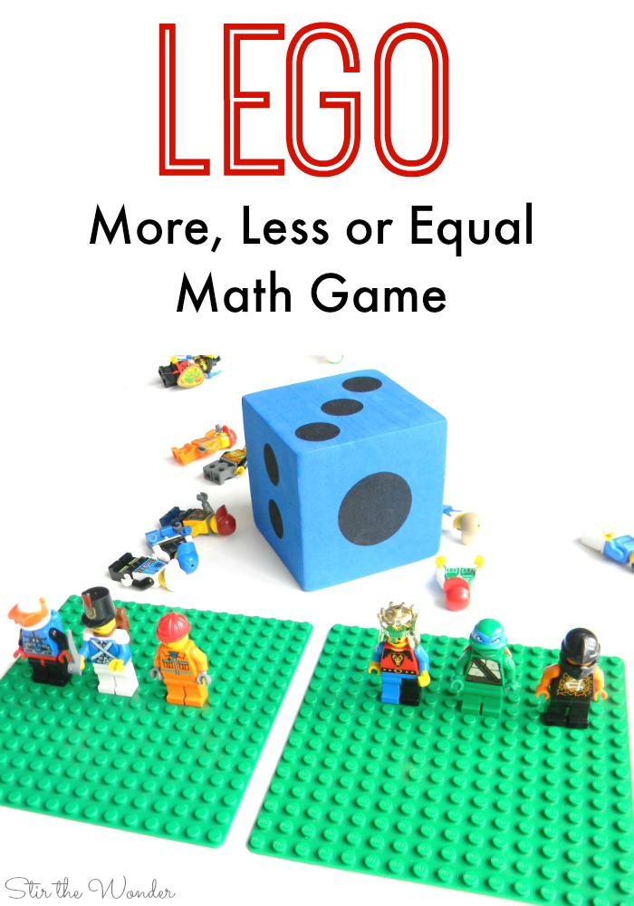 Using LEGO Minifigures to help kids learn about more, less or equal quantities is a fun way to teach early math skills!