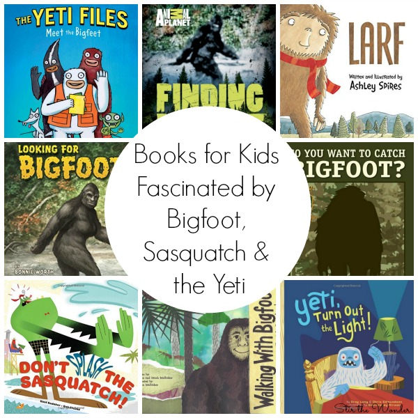 Do you know of a child who is fascinated by Bigfoot, Sasquatch or the Yeti? Here is a complete list of recommending books for kids who can't get enough of these mythical creatures!