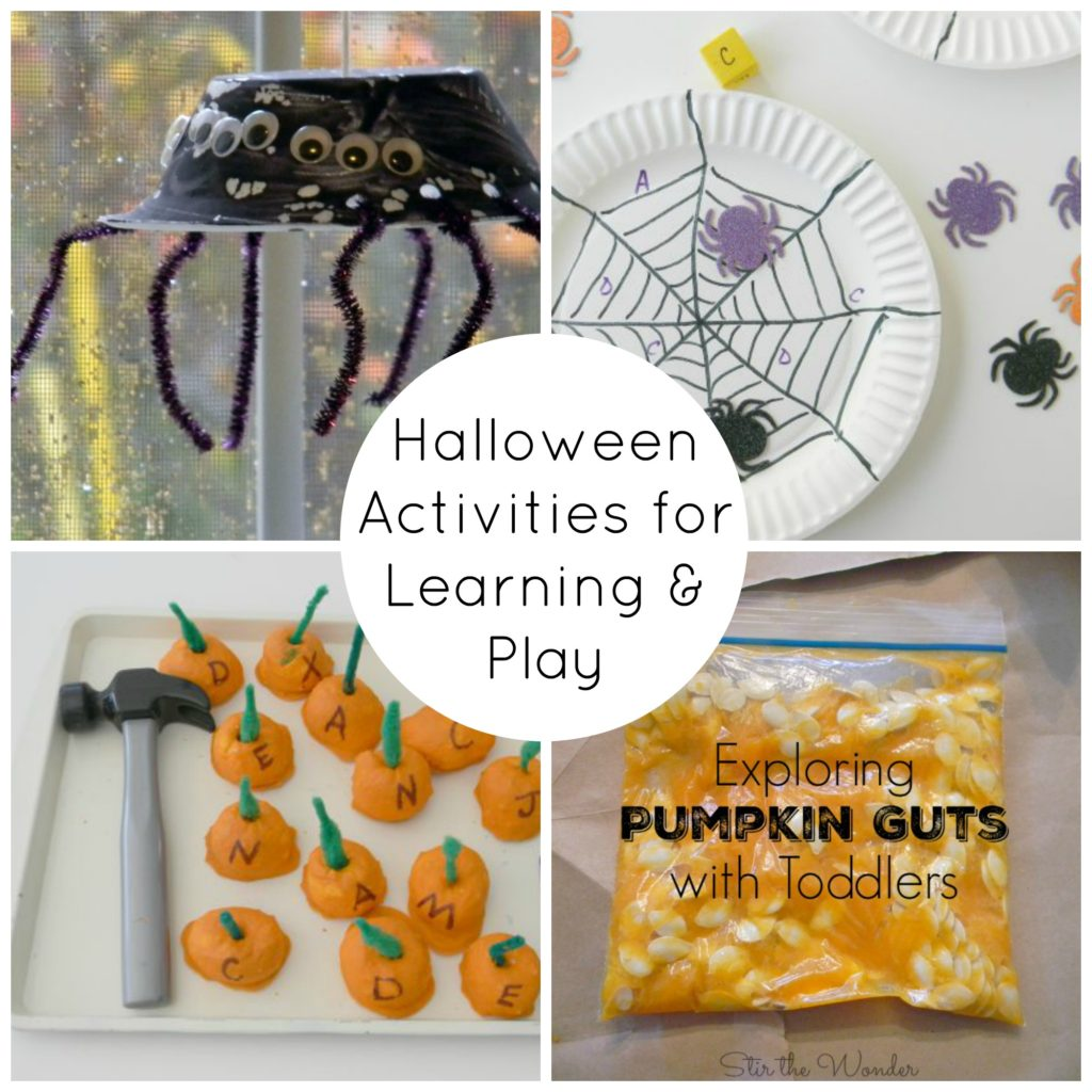 Halloween is such a fun time of year! Take advantage of your kid's excitment by working in some learning with these creative halloween activities!