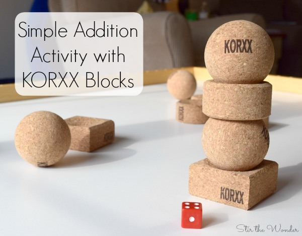 Simple Addition Game with KORXX Blocks #sponsored