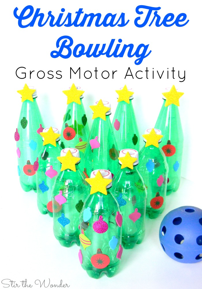 Christmas Tree Bowling Gross Motor Activity