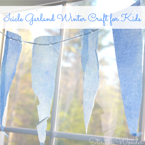 Icicle Garland Winter Craft for Kids