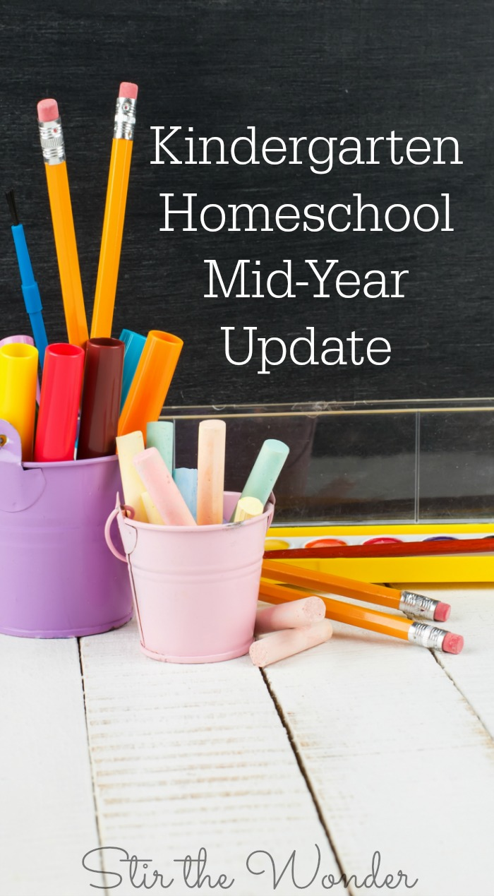 Kindergarten Homeschool Mid-Year Update