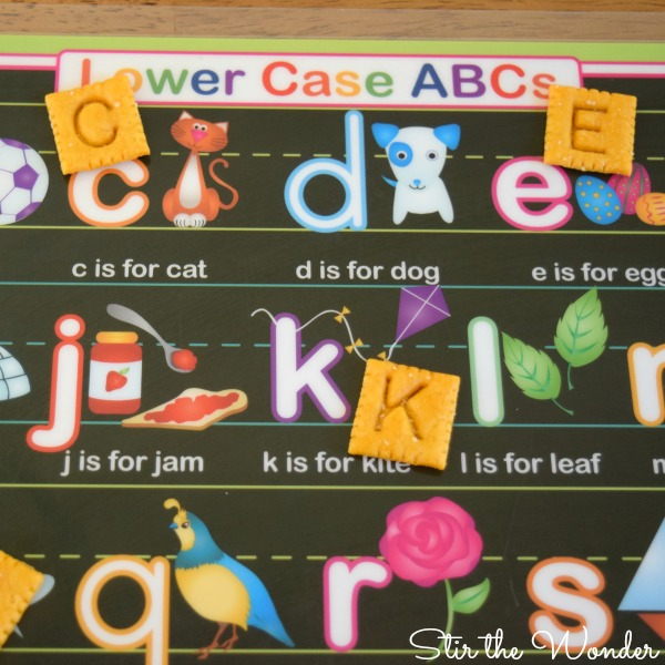 alphabet snacks matching game