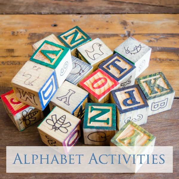 alphabet activities for toddlers and preschoolers