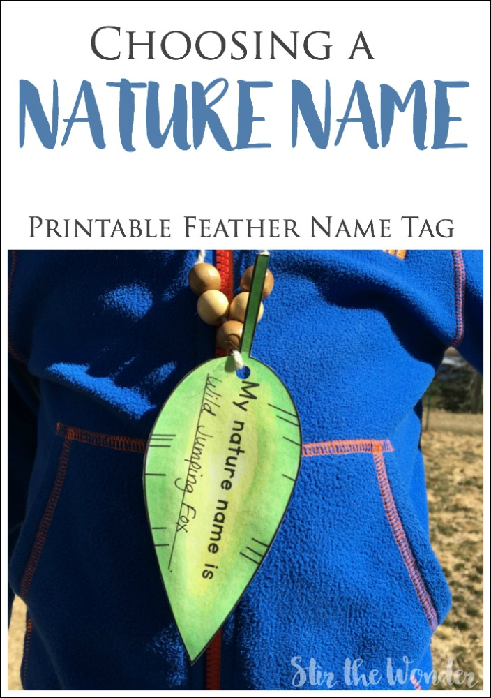 Choosing a Nature Name is a fun activity to do with a classroom, nature group, homeschool co-op or as a family!