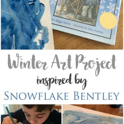 Winter Art Project Inspired by Snowflake Bentley