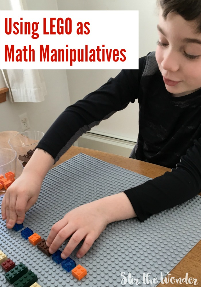 Using LEGO bricks and mini figures as Math Manipulatives can make learning math more fun!