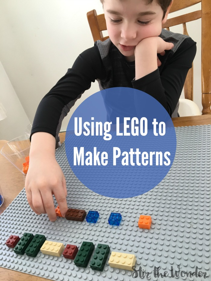 LEGO bricks are an awesome math manipulatives for learning about patterns!