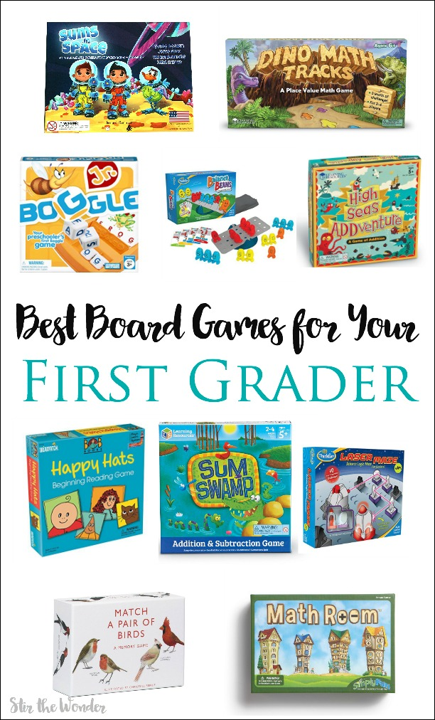 Incorporate board games into your homeschool or classroom with these 10 best board games for first grade!