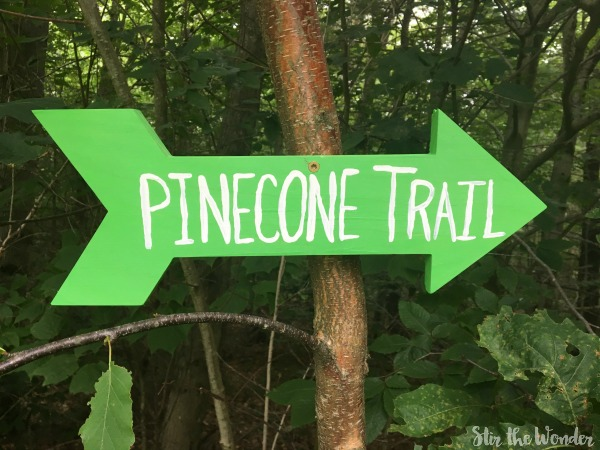 Make your own Arrow Trail Sign to mark the trailheads on your property or add some whimsy to your backyard!