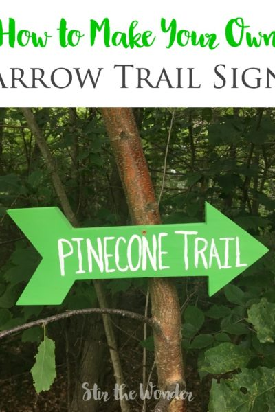 How to Make Your Own Arrow Trail Sign
