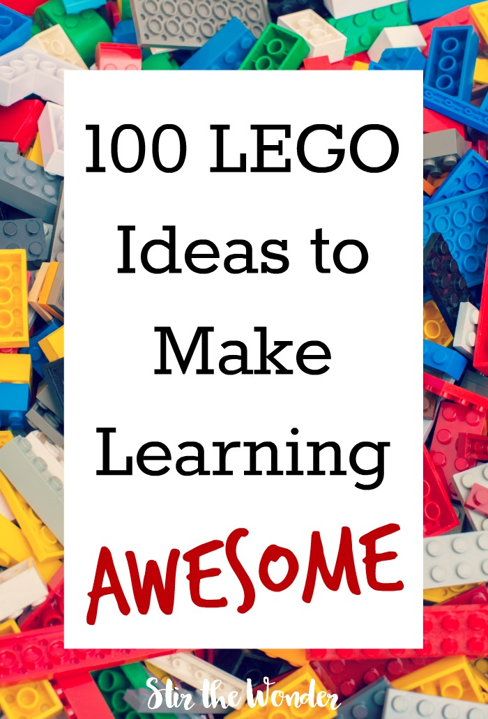 Make learning awesome and hands-on with these 100 LEGO ideas! #LEGO #homeschool
