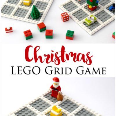 Christmas LEGO Grid Game for Preschoolers