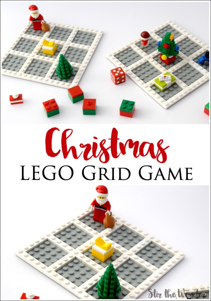Work on math skills with your preschooler with the Christmas LEGO Grid Game! It's the perfect addition to your Christmas themed lesson plans!