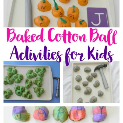 Fun Baked Cotton Ball Activities for Kids