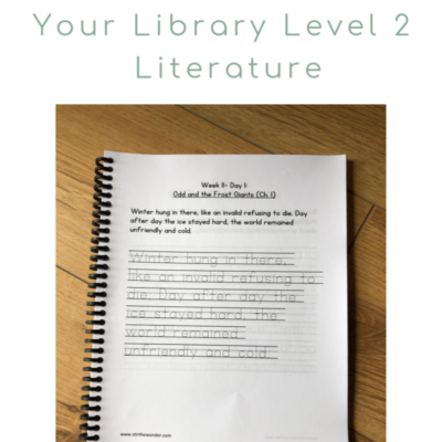 Copywork Tracing Pages for Level 2 Build Your Library Literature