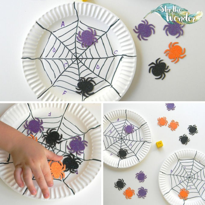Cover-a-Letter Spider Web Game is a fun way for preschoolers to practice letter recognition.