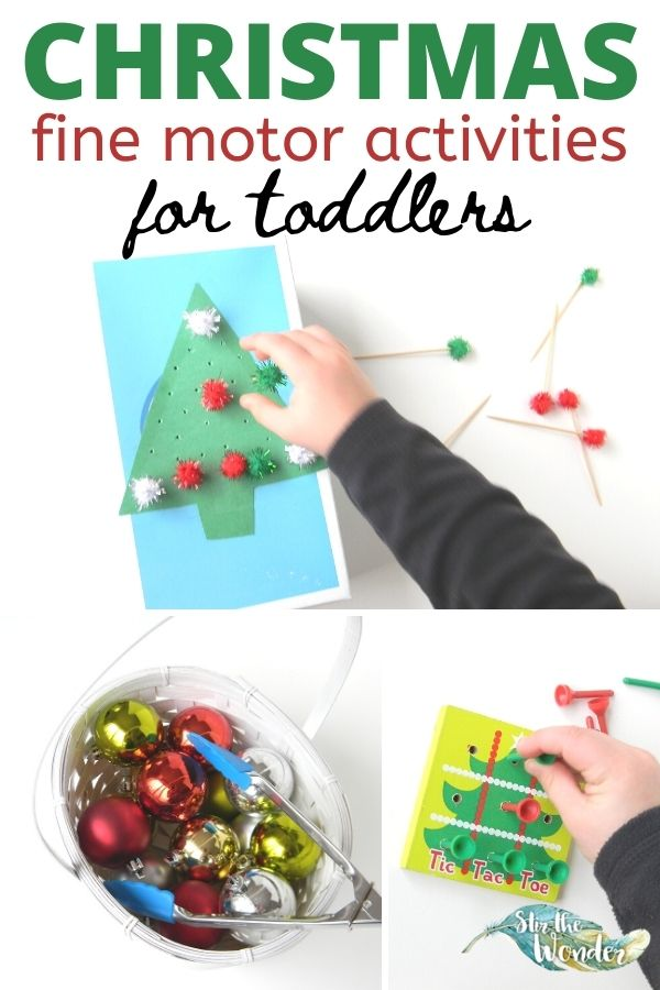 Toddlers will love these Christmas Fine Motor activities!