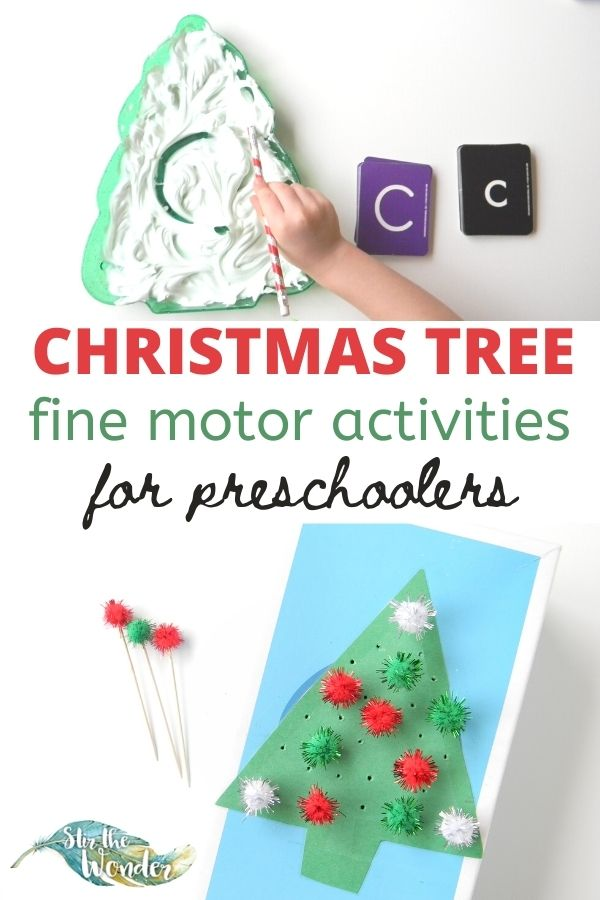 These fun Christmas fine motor activities for preschoolers are perfect for learning at home or in the classroom.