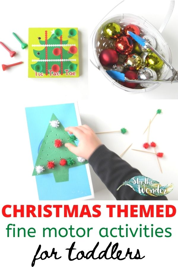 Have fun this holiday season with these 6 Christmas Themed fine motor activities for toddlers!